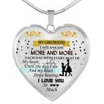 Gift For Girlfriend Necklace My Heart Stops Beating Love You