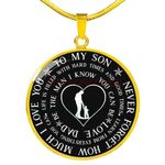 Gift For Son 18k Gold Necklace Never Forget How Much I Love You