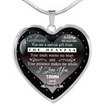Present For Girlfriend Silver Heart Necklace Love You Today And Forever