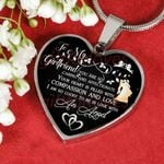 Gift For Girlfriend Silver Heart Pendant Necklace You Are So Caring