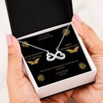 To Our Daughter - We Wish You Total Happiness Infinity Heart Necklaces