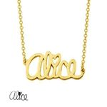 Alice Sterling Silver Personalized Dainty Custom Name Necklace