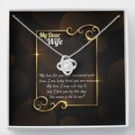 I Am Lucky That You Are Mine Love Knot Necklace Gift For Wife