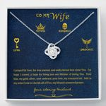 The Answer To My Prayers   Love Knot Necklace For Wife