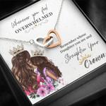 Straighten Your Crown  Interlocking Hearts Necklace For Daughter
