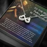 Thank You Infinity Heart Necklace Gift For  Police Wife