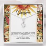 Sunflowers Art I'll Always Be There For You To Daughter Alluring Beauty Necklace
