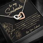 Love You Longer  Interlocking Hearts Necklace For Soulmate