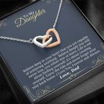You Are Capable Of Achieving Anything Interlocking Hearts Necklace Gift For Daughter