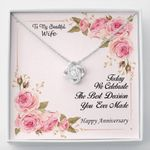 The Best Decision I Ever Made Love Knot Necklace For Wife