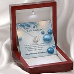 Life Partner Christmas Balls   Love Knot Necklace For Wife
