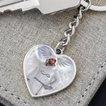 Seraphim Angelic Heart Pendant Keychain For Men