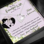 Meaningful To My Beautiful Wife Happy Anniversary Forever Love Necklace