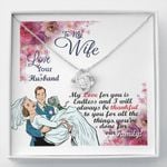 Thankful To You For All Things Love Knot Necklace  Gift For  Wife
