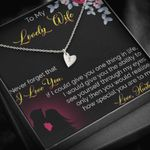 Never Forget I Love You Sweetest Hearts Necklace  Gift For  Wife
