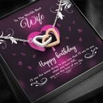 When You Turn 100 Leaf Pattern Interlocking Hearts Necklace  Gift For  Wife