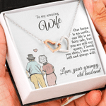 I Love You Still Grumpy Old Husband To Wife Interlocking Hearts Necklace