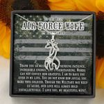 To The Best Air Force Wife In The World Giraffe Couple Necklace Gift For Her