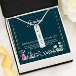 To My Grandma Thanks For Being In My Life Birthstone Name Bar Necklace