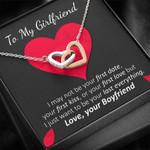 Your Last Everything  Interlocking Hearts Necklace To Honey