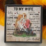 I Love You So Much Giraffe Couple Necklace Gift For Wife