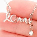 Gift For Wife Spending Each Day With You Stainless Scripted Love Necklace