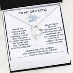 Gift For Girlfriend You Gave Me The Strength Forever Love Necklace