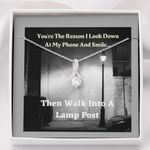 You're The Reason I Smile Alluring Beauty Necklace Gift For Her