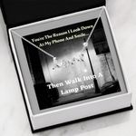 Then Walk Into A Lamp Post Gift For Lover Stainless Scripted Love Necklace