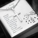 Strength Doesn't Come From What You Can Do Cross Necklace Gift For Daughter