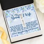 Thank For Being A Great Life Partner Birthstone Name Bar Necklace Gift For Wife