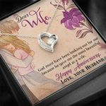 Happy Anniversary Gift For Wife 14K White Gold Forever Love Necklace