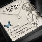 Gift For Angel Mom Death Can Not Part Sweetest Hearts Necklace