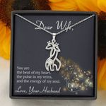 You Are The Beat Of My Heart Gift For Wife Giraffe Couple Necklace