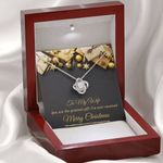 Merry Christmas You Are The Greatest Gift Love Knot Necklace Gift For Wife