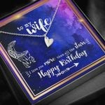 Gift For Wife Happy Birthday Galaxy Sweetest Hearts Necklace