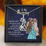 I Love You More Than You Ever Know Gift For Mommy Giraffe Couple Necklace