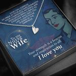 Your Strength Is A Beacon And Inspiration To All Gift For Nurse Wife Sweetest Hearts Necklace
