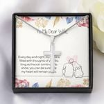 My Heart Will Remain Yours Gift For Wife Stainless Cross Necklace
