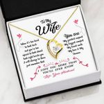 You Are My Greatest Support 18K Gold Forever Love Necklace Gift For Wife
