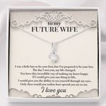 Gift For Future Wife The Day I Met You My Life Changed 14K White Gold Alluring Beauty Necklace