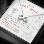 Gift For Vet Wife I Never Dreamed I'd End Up Marrying A Big Hearted Veterinarian 14K White Gold Infinity Heart Necklace
