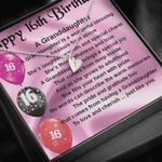 Happy 16th Birthday Sweetest Hearts Necklace Gift For Granddaughter