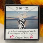 Gift For Wife You Are The Sun In My Day Giraffe Couple Necklace