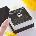 Meeting You Was Fate 14K White Gold Forever Love Necklace Gift For Wife