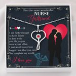 Gift For Nurse Girlfriend You Complete My World Stethoscope Necklace
