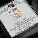 You'll Never Lose Gift For Daughter Interlocking Hearts Necklace