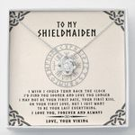 Viking Symbol Be Your Last Everything Love Knot Necklace Gift For Shieldmaiden