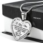 How Special You Are Stainless Heart Pendant Necklace Gift For Wife