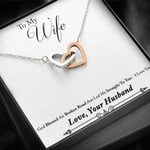 Gold Blessed The Broken Road Interlocking Hearts Necklace Gift For Her